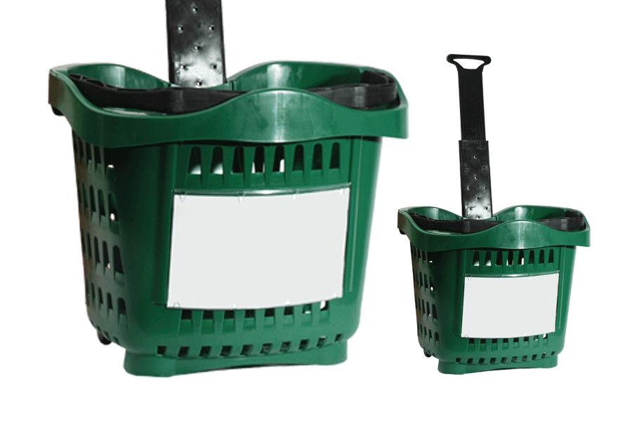 caisse en plastique a roulette avec manche telescopique. Black Bedroom Furniture Sets. Home Design Ideas