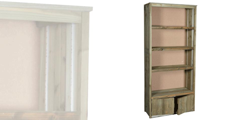 armoire haute portes bas vercors alv. Black Bedroom Furniture Sets. Home Design Ideas