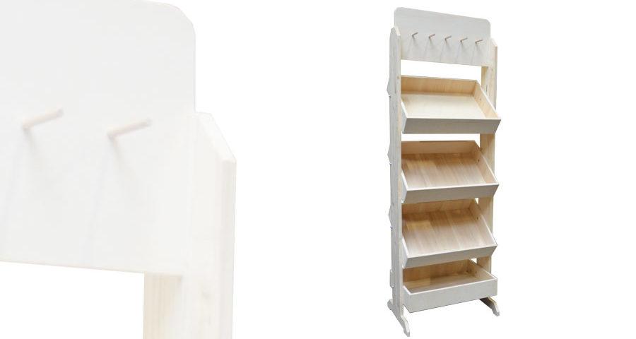 meuble pr sentoir 4 casiers salaison alv. Black Bedroom Furniture Sets. Home Design Ideas