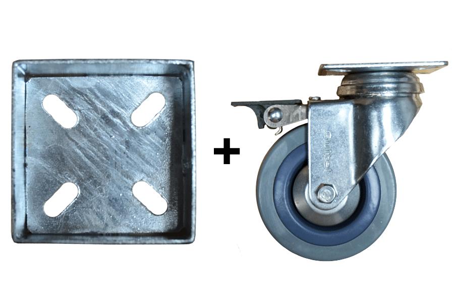 Roulettes avec frein fourreaux alv - Roulette pour meuble avec frein ...