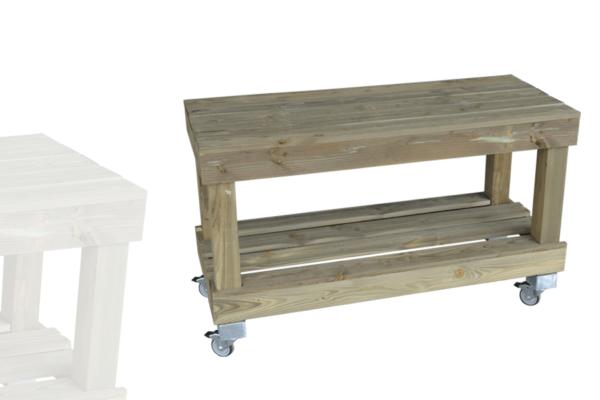 table 2 niveaux Étroite bois vieilli   alv