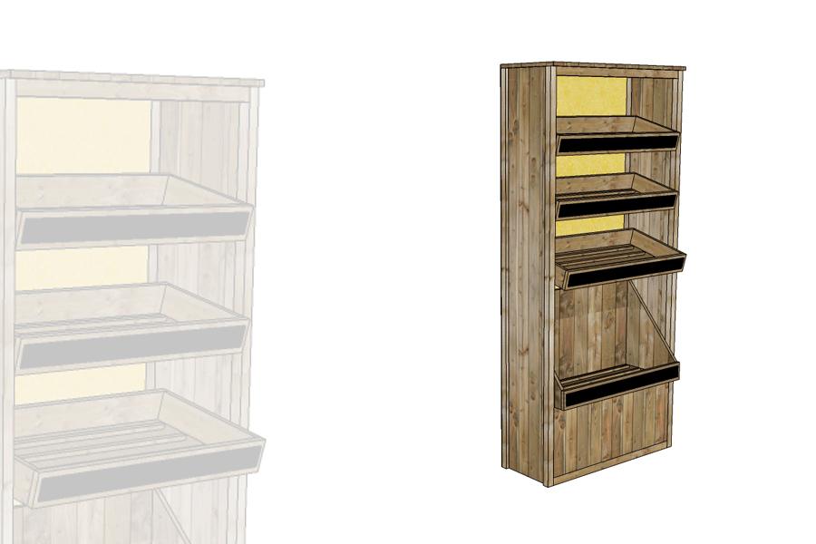 armoire boulangerie baguettes alv. Black Bedroom Furniture Sets. Home Design Ideas