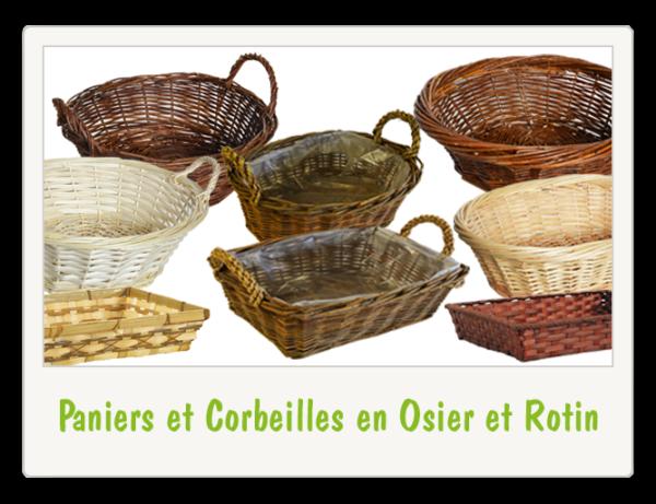 Paniers et Corbeilles en Osier et Rotin